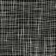 ROBERT KAUFMAN 130cm  PEN & INK, WHITE WAVES ON BLACK $21