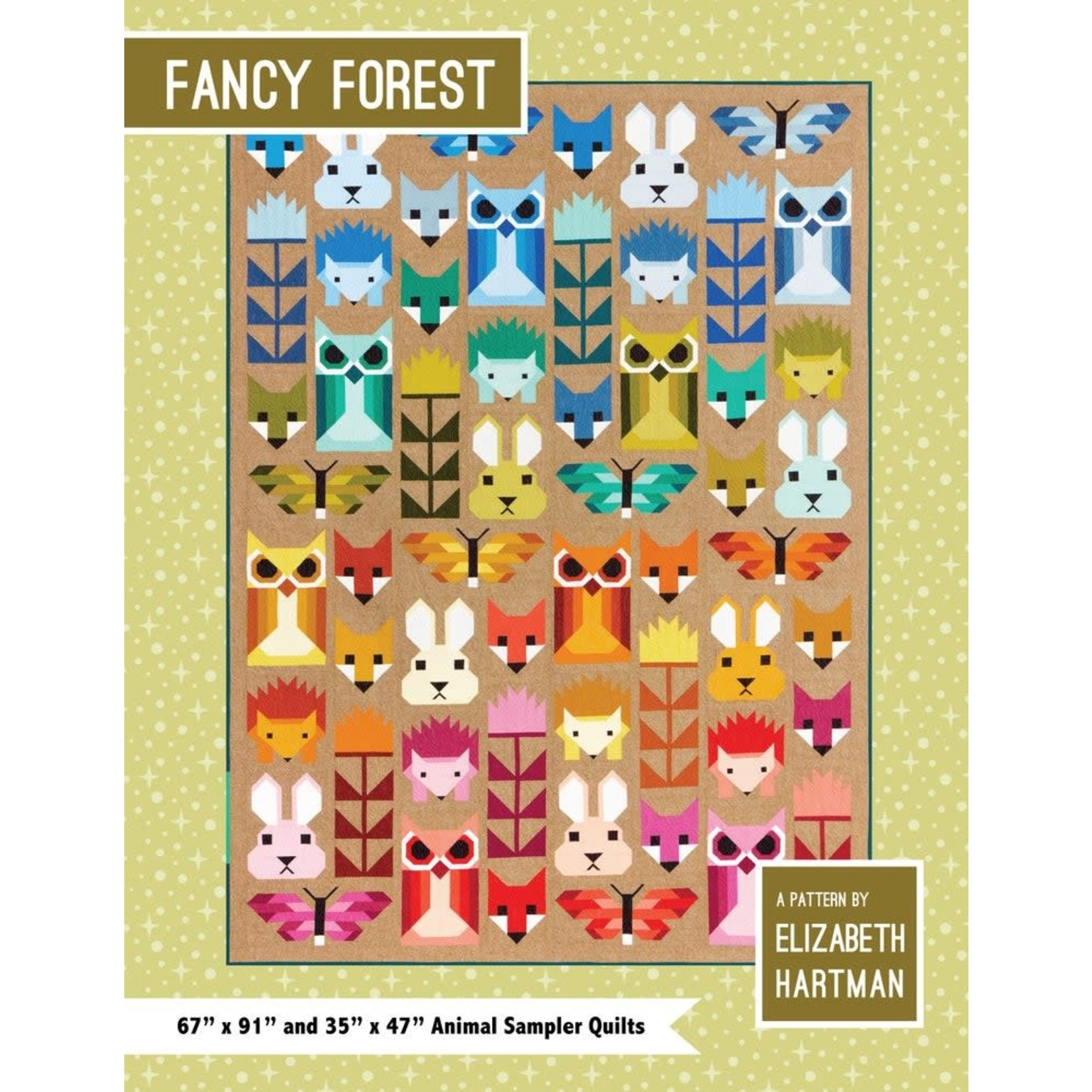 ELIZABTEH HARTMAN FANCY FOREST FRIENDS BY ELIZABETH HARTMAN
