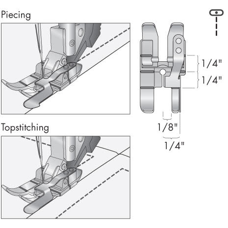 """PFAFF 1/4"""" RIGHT GUIDE FOOT FOR IDT"""
