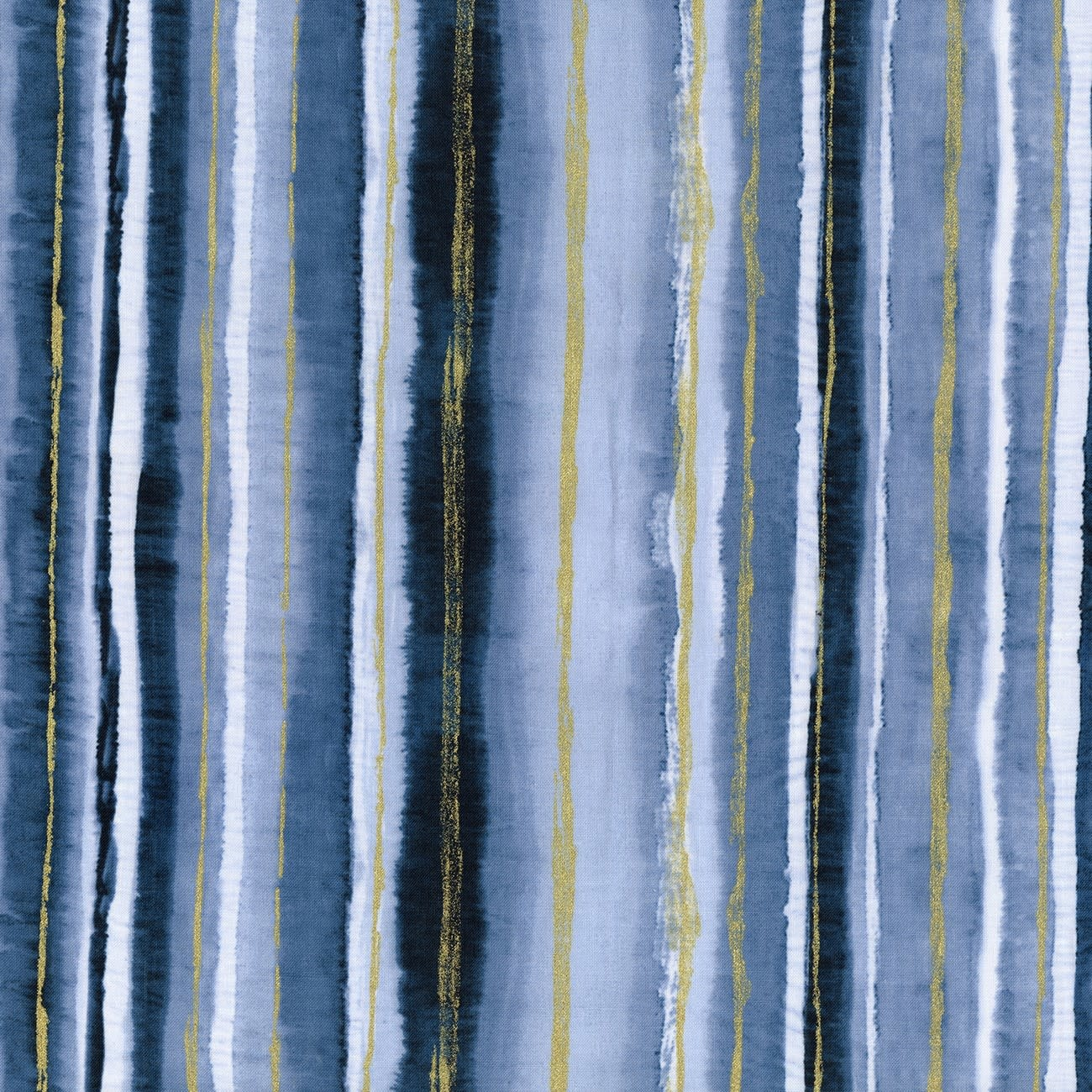 TIMELESS TREASURES Gilded City, Watercolour Stripe, Blue (8160-BLU) $0.20 per cm or $20/m