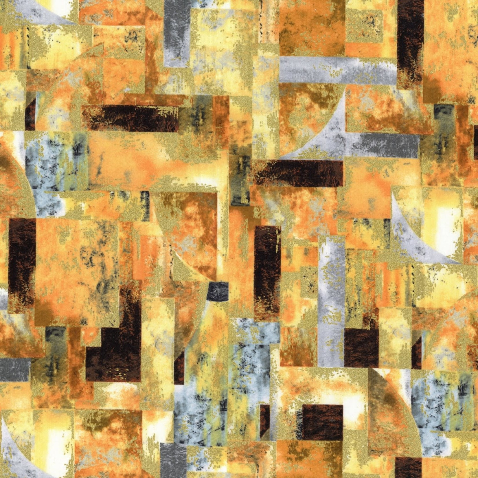 Timeless Treasures Gilded City, Landscape Blocks, Multi (8154-MUL) $0.20 per cm or $20/m