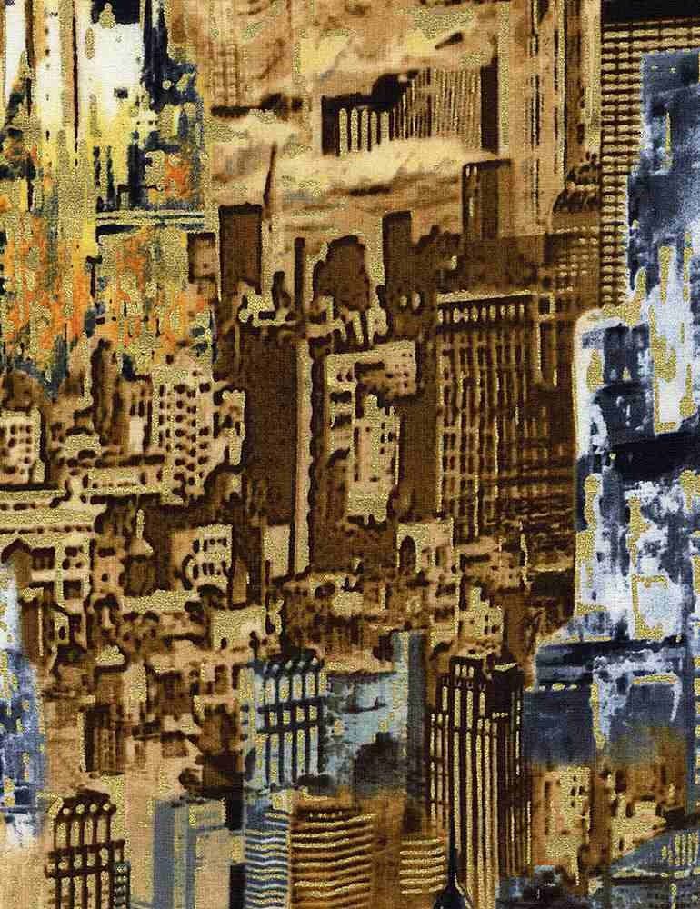 TIMELESS TREASURES Gilded City, Allover Cityscape, Multi (8152-MUL) $0.20 per cm or $20/m