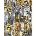 Timeless Treasures Gilded City, Urban Landscape Sketch, Multi (8316-MUL) $0.20 per cm or $20/m