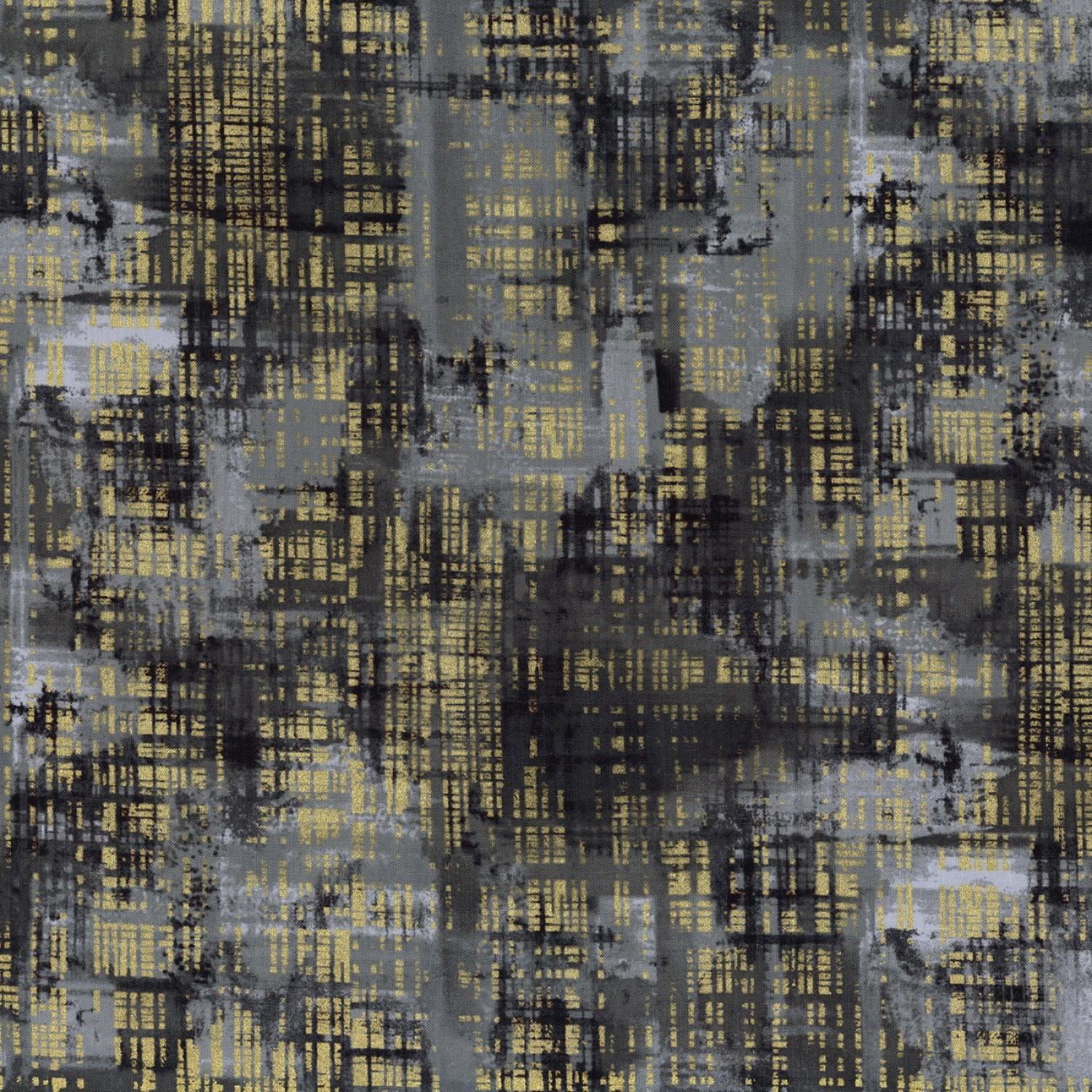 TIMELESS TREASURES Gilded City, Brushed, Grey (8156-GRY) $0.20 per cm or $20/m