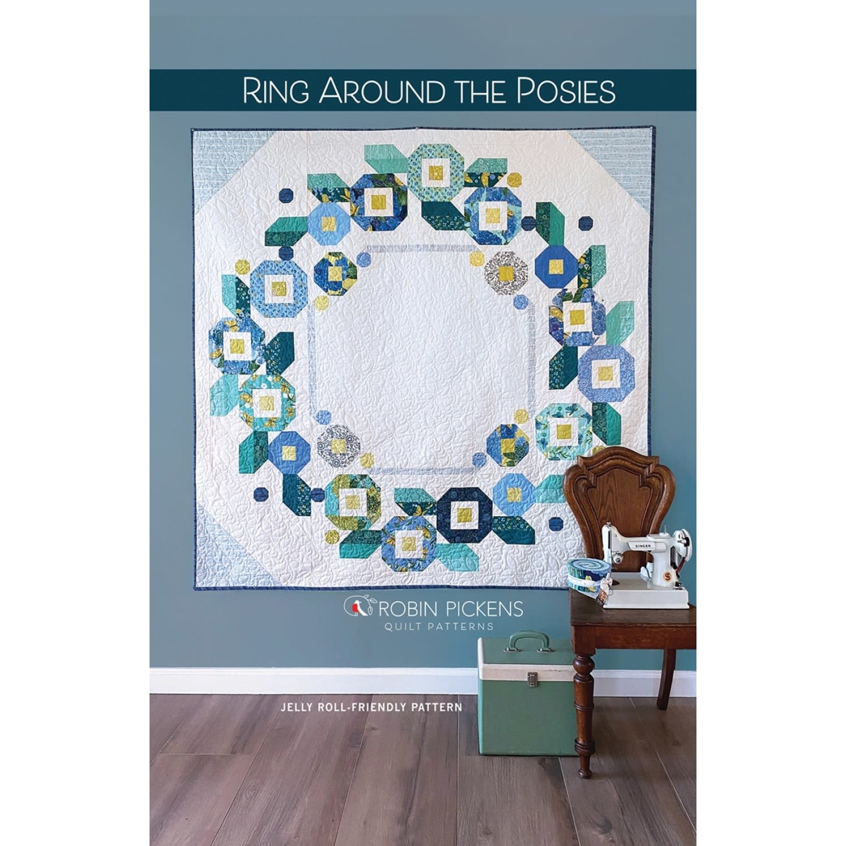 Robin Pickens Quilt Patterns Ring Around The Posies Quilt Pattern