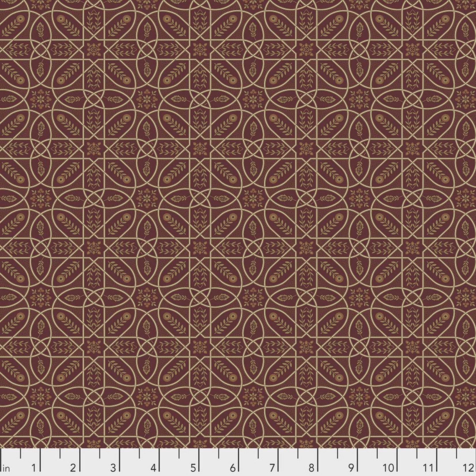 Morris & Co Orkney, Brophy Trellis - Red (PWWM046) per cm or $16/m