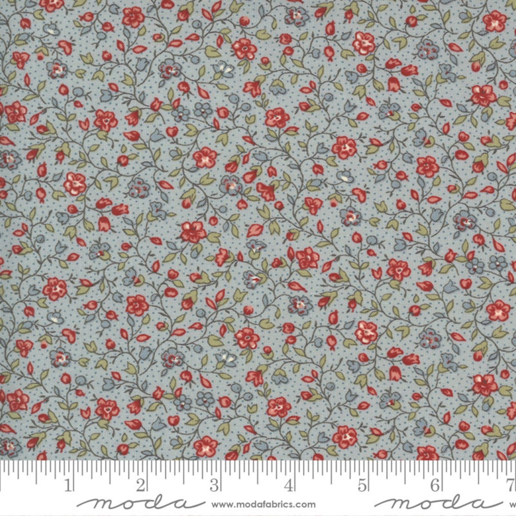 FRENCH GENERAL Jardins De Fleurs, Villandry, Ciel Blue 13895-16 $0.20 per cm or $20/m