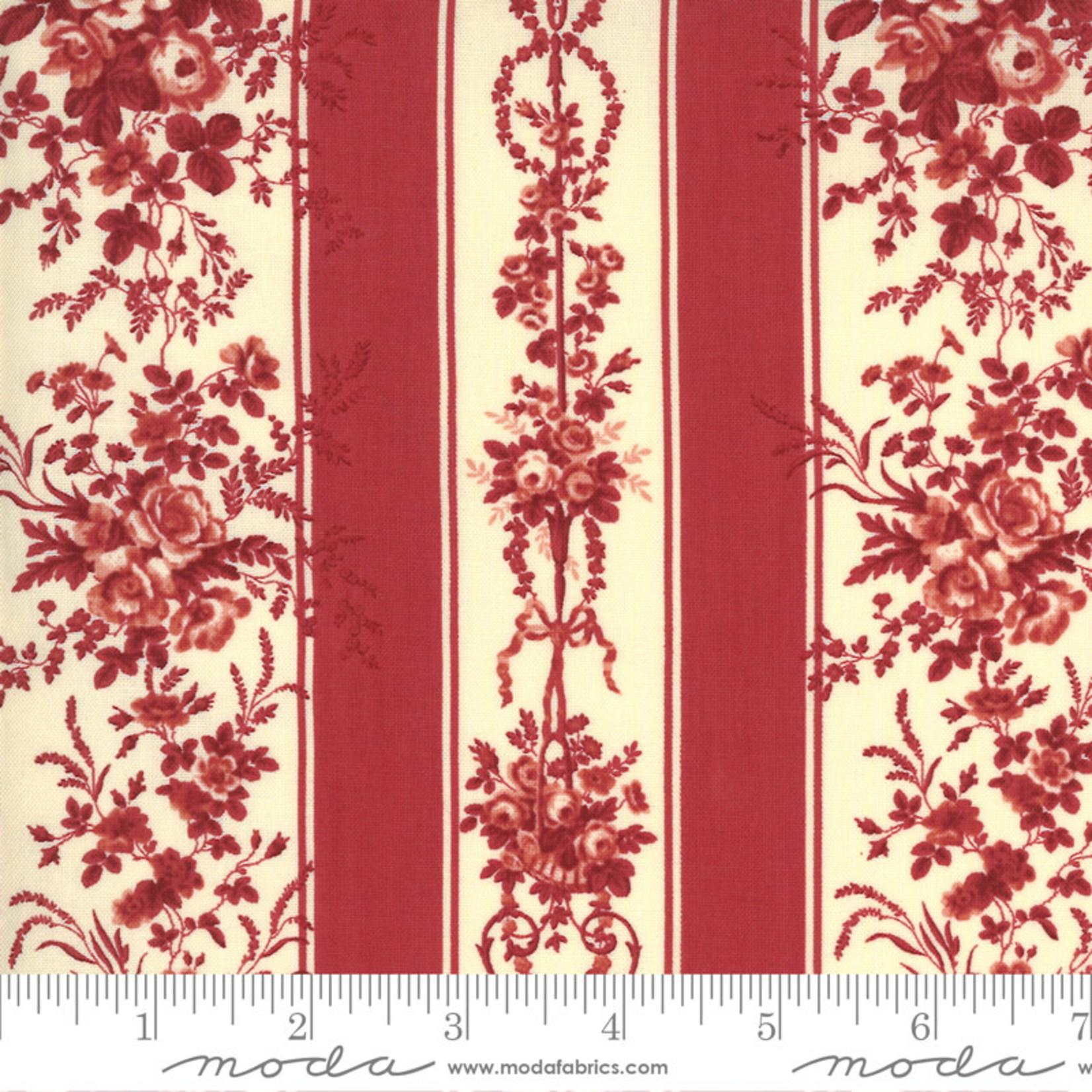 FRENCH GENERAL Jardins De Fleurs, Trocadero, Rouge 13891-11 $0.20 per cm or $20/m