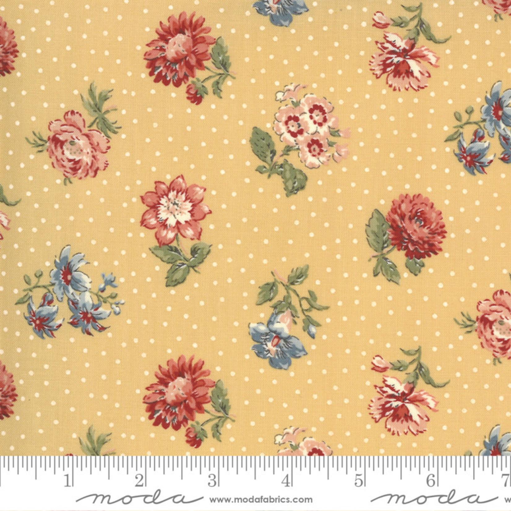 FRENCH GENERAL Jardins De Fleurs, Rayol, Saffron 13893-15 $0.20 per cm or $20/m