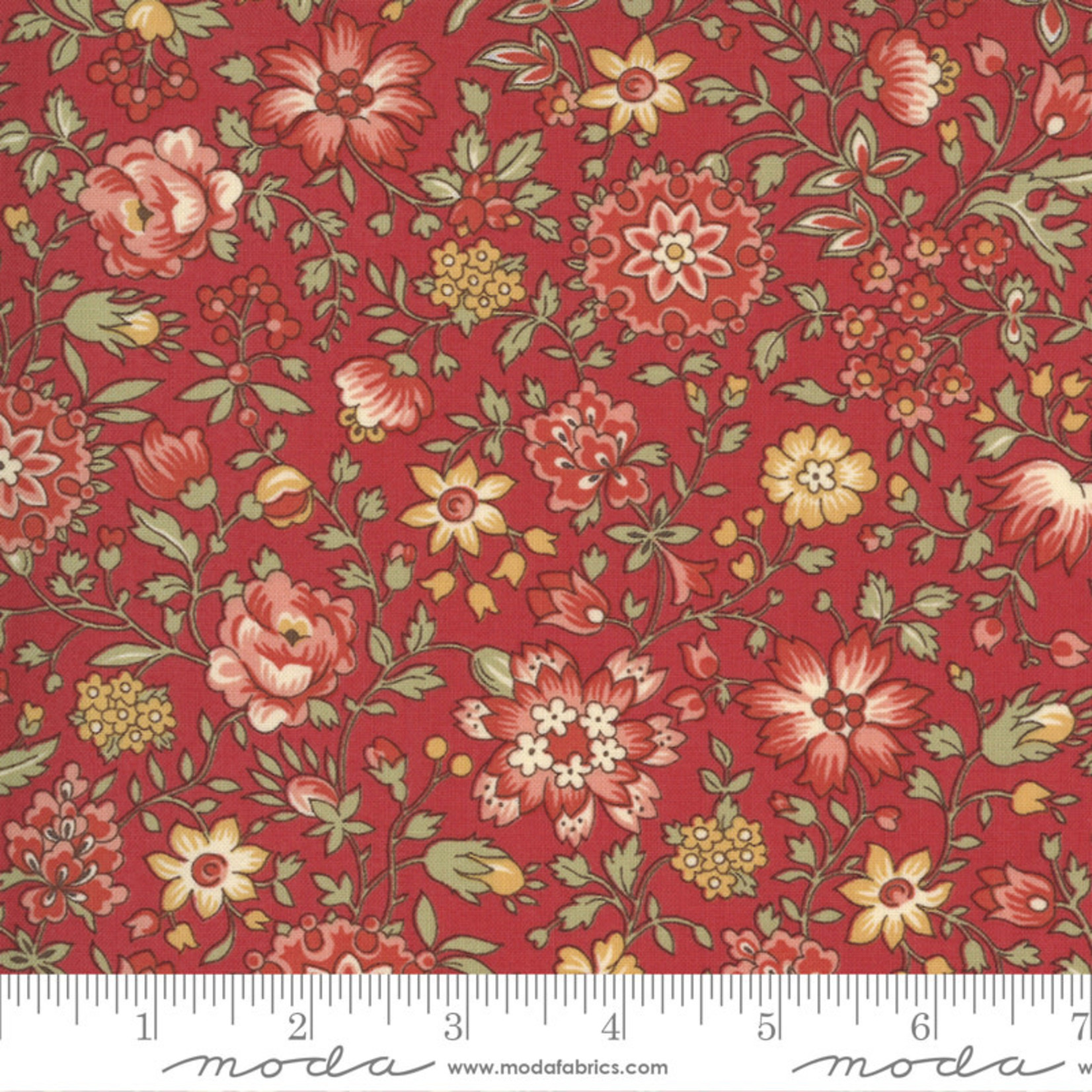 FRENCH GENERAL Jardins De Fleurs, Giverny, Rouge 13894-12 $0.20 per cm or $20/m