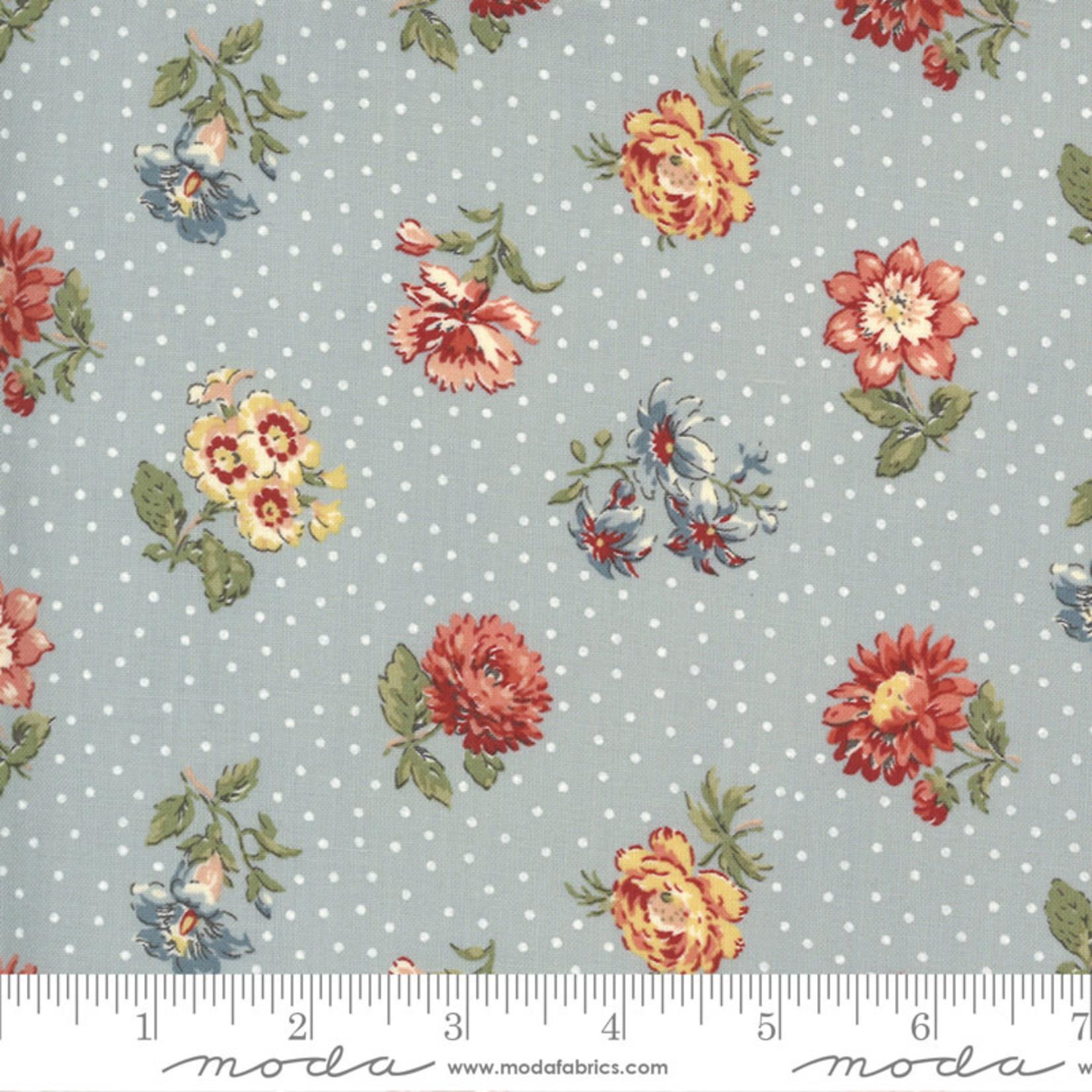 FRENCH GENERAL Jardins De Fleurs, Rayol, Ciel Blue 13893-19 $0.20 per cm or $20/m