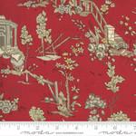 French General Jardins De Fleurs, Champs De Mars, Rouge 13890-11 $0.20 per cm or $20/m