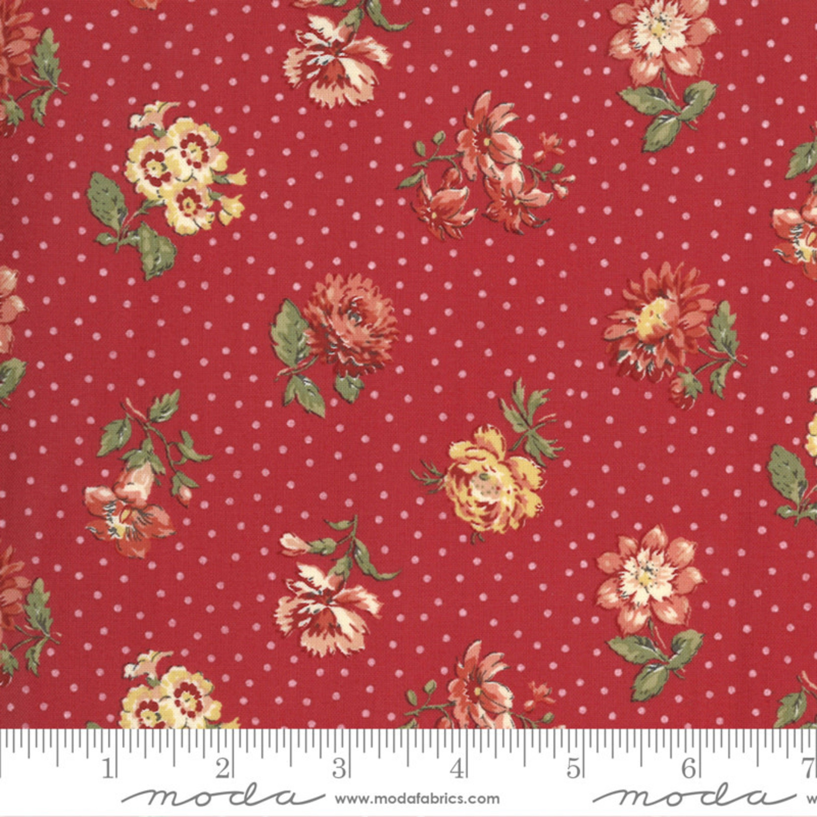 French General Jardins De Fleurs, Rayol, Rouge 13893-12 $0.20 per cm or $20/m