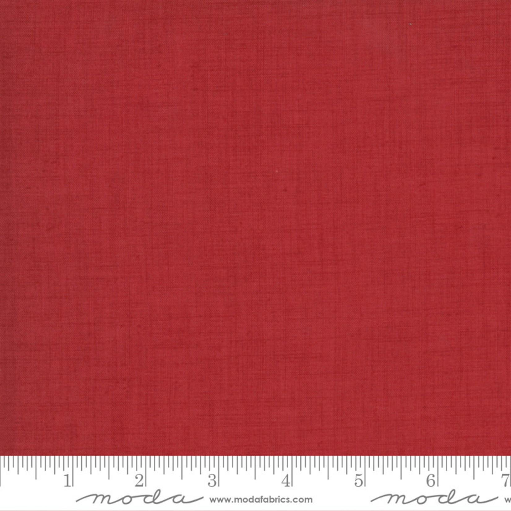 FRENCH GENERAL Jardins De Fleurs, Linen Texture, Rouge 13529-23 $0.20 per cm or $20/m