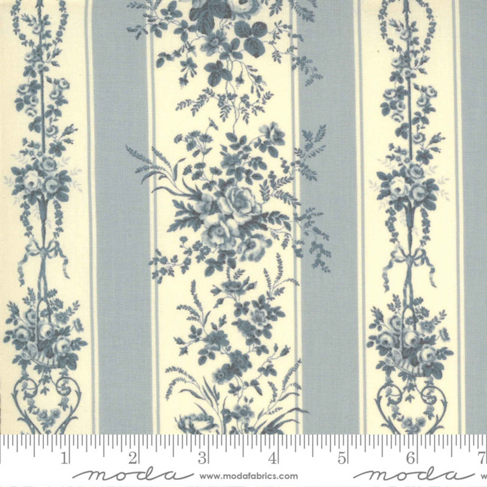 FRENCH GENERAL Jardins De Fleurs, Trocadero, Ciel Blue 13891-18 $0.20 per cm or $20/m