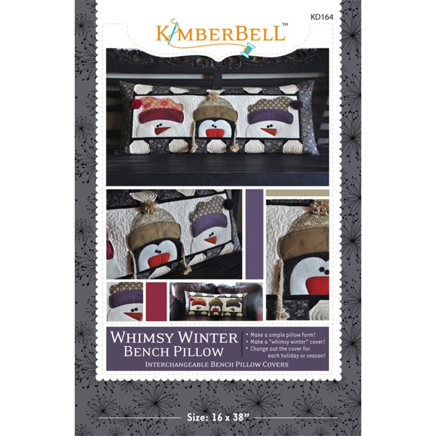 KIMBERBELL DESIGNS Whimsy Winter Bench Pillow Pattern