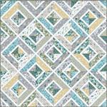 Makower UK Clara's Garden, Quilt Kit - Binding Included