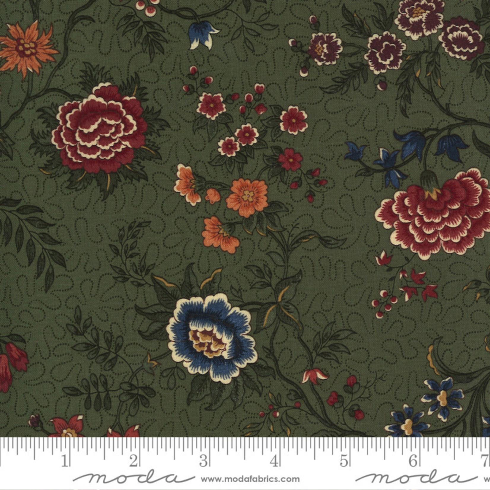 Kansas Troubles Quilters Prairie Dreams, Prairie Flowers Florals, Green 9650 15 $0.20 per cm or $20/m