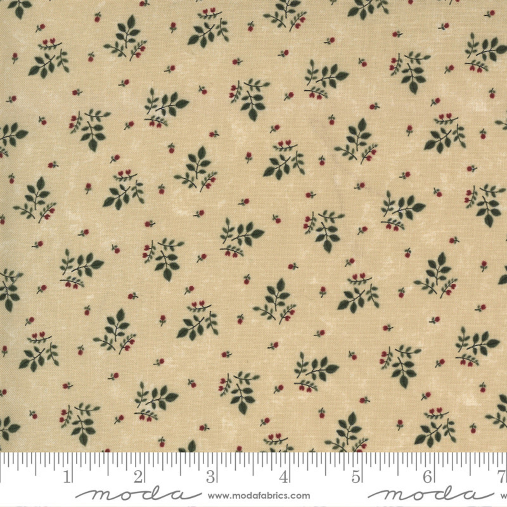 Kansas Troubles Quilters Prairie Dreams, Leaves Berries, Tan 9653 11 $0.20 per cm or $20/m