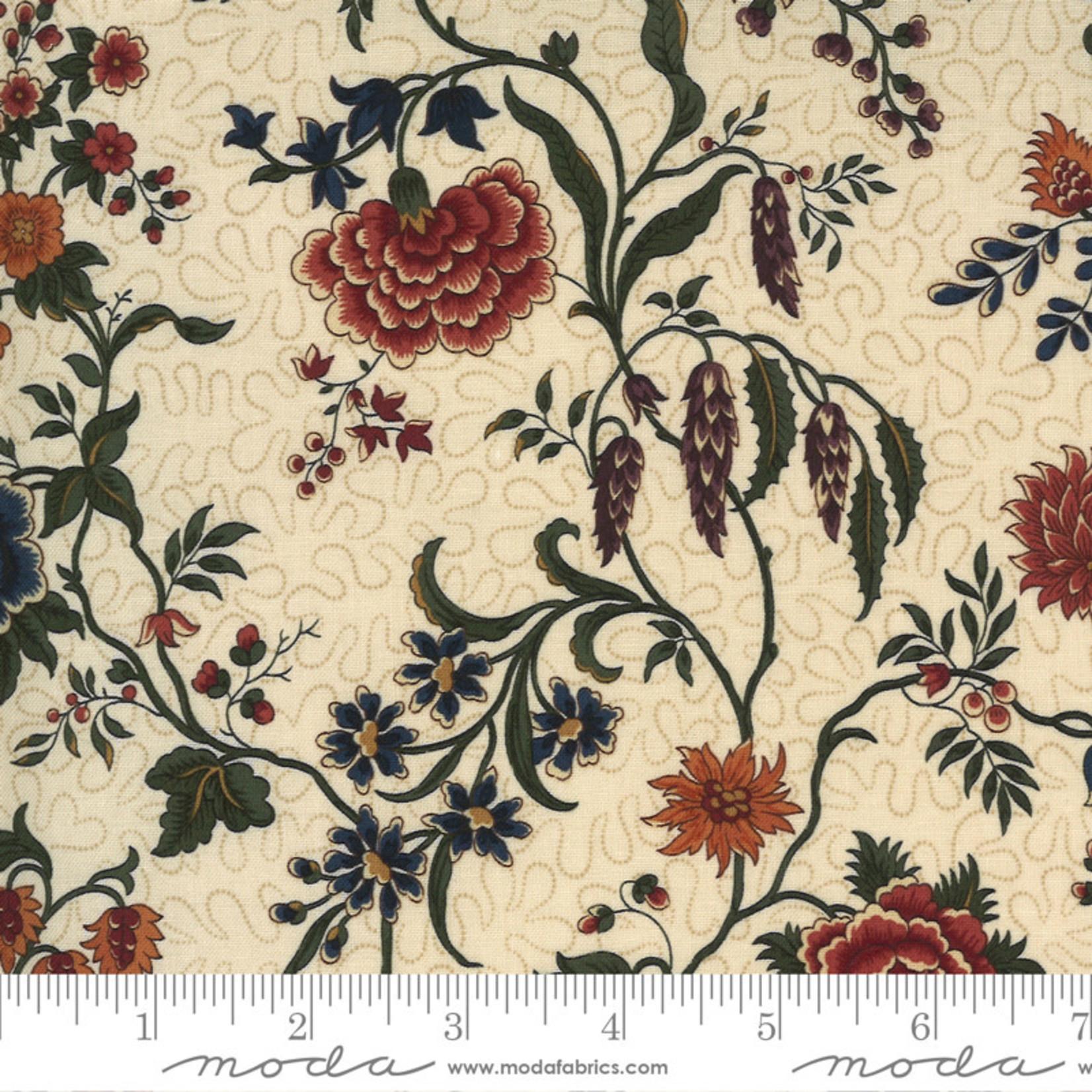 Kansas Troubles Quilters Prairie Dreams, Prairie Flowers Florals, Tan 9650 11 $0.20 per cm or $20/m