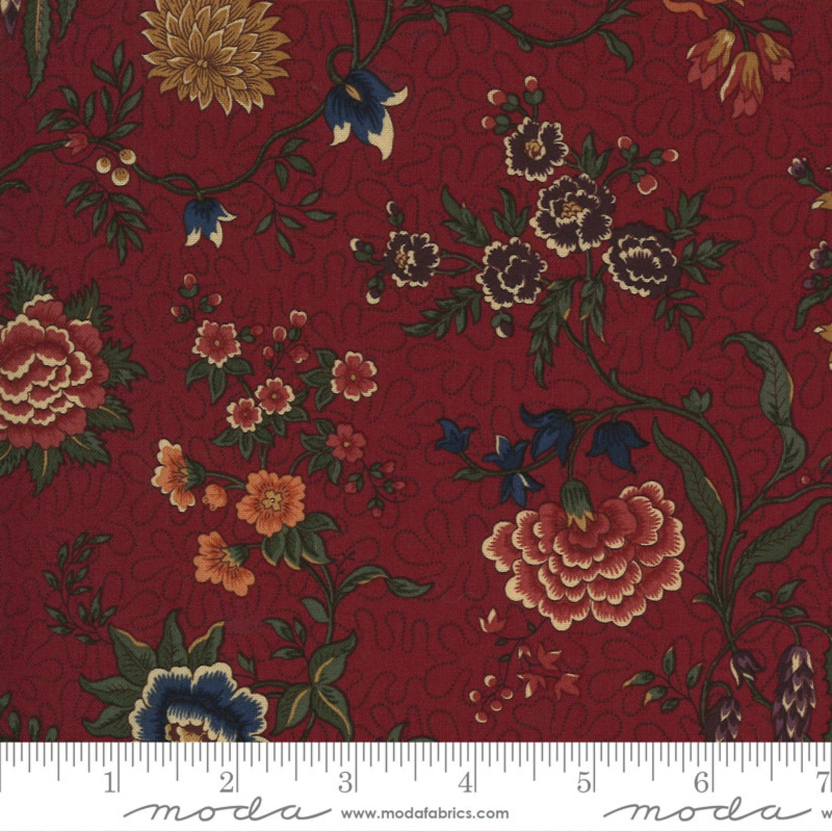 Kansas Troubles Quilters Prairie Dreams, Prairie Flowers Florals, Red 9650 13 $0.20 per cm or $20/m
