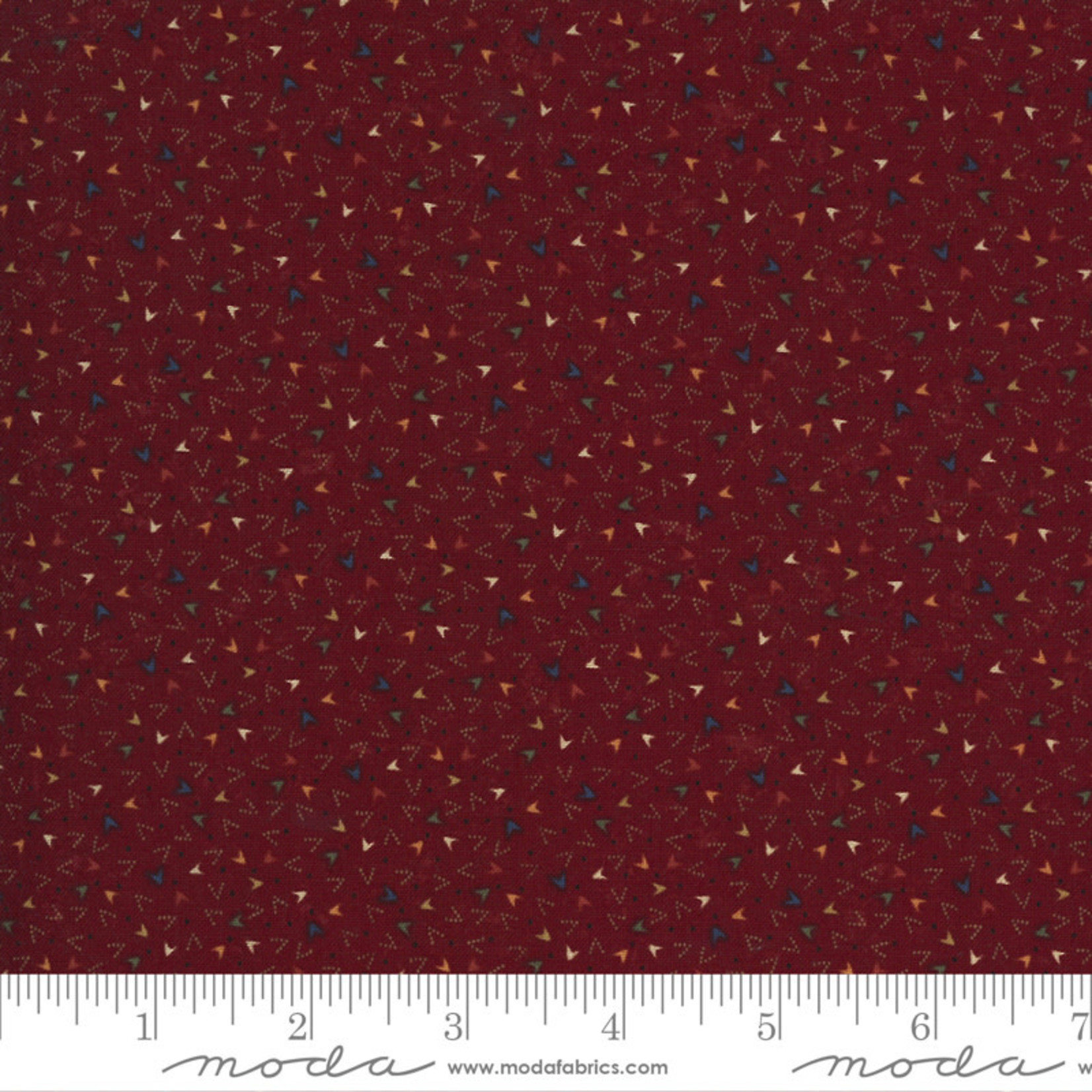 Kansas Troubles Quilters Prairie Dreams, Arrowheads, Red 9657 13 $0.20 per cm or $20/m
