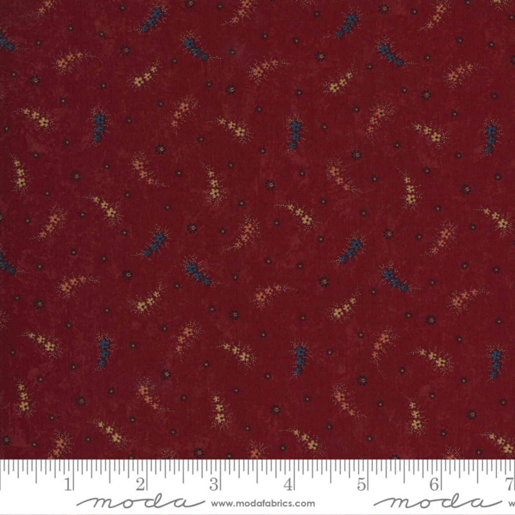 Kansas Troubles Quilters Prairie Dreams, Daisy Chain, Red 9651 13 $0.20 per cm or $20/m