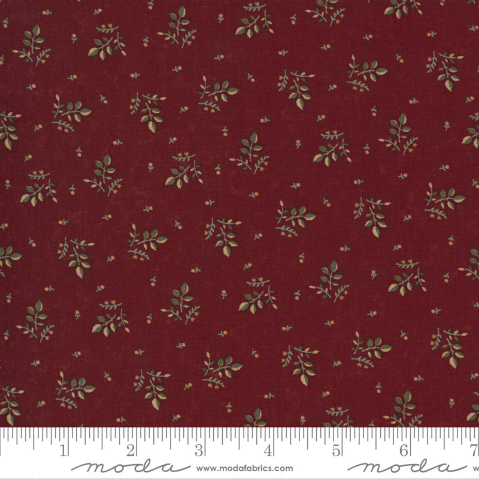 Kansas Troubles Quilters Prairie Dreams, Leaves Berries, Red 9653 13 $0.20 per cm or $20/m