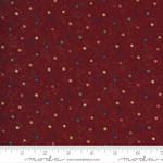 Kansas Troubles Quilters Prairie Dreams, Sunspots Dots, Red 9656 13 $0.20 per cm or $20/m