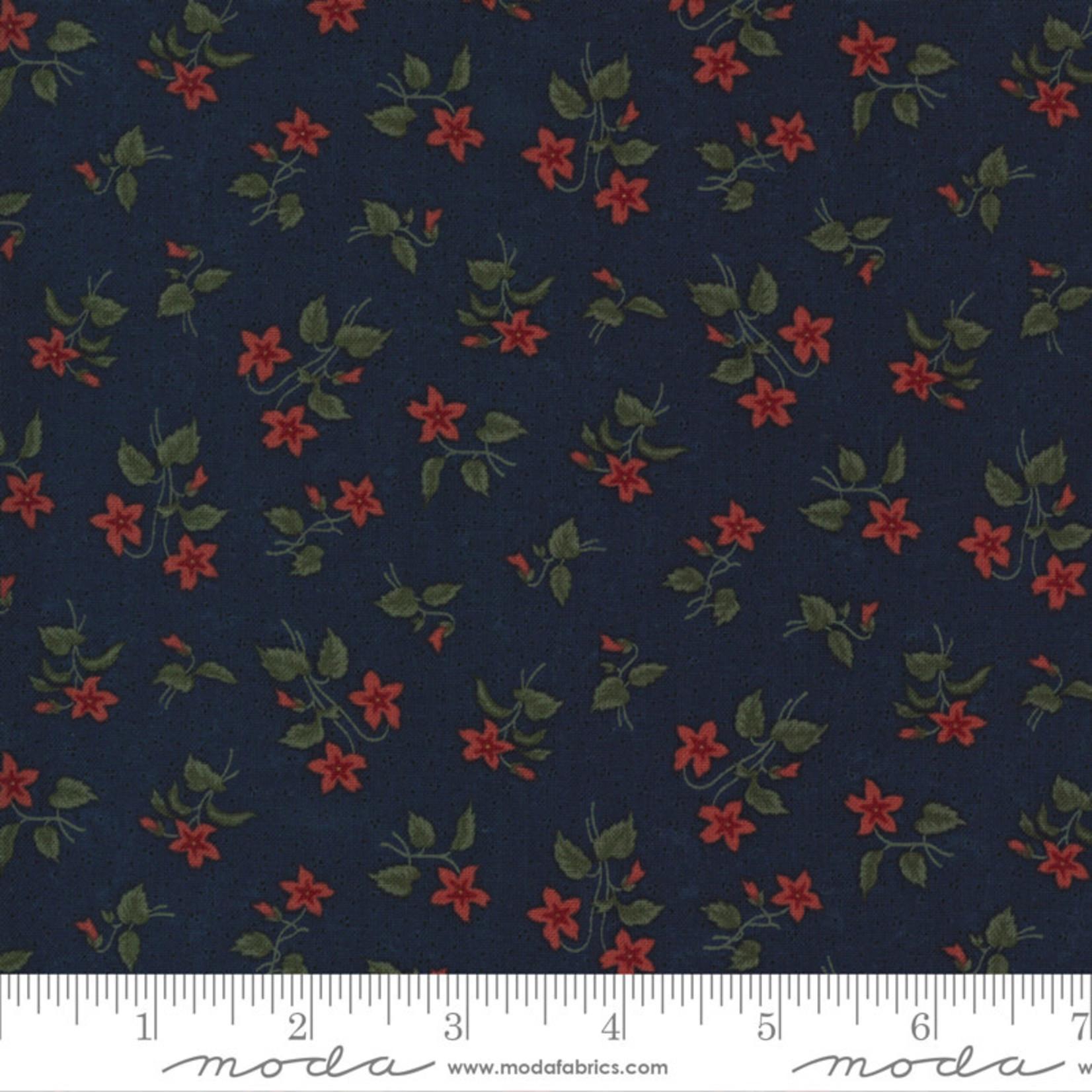 Kansas Troubles Quilters Prairie Dreams, Blossoms Florals, Navy 9652 14 $0.20 per cm or $20/m