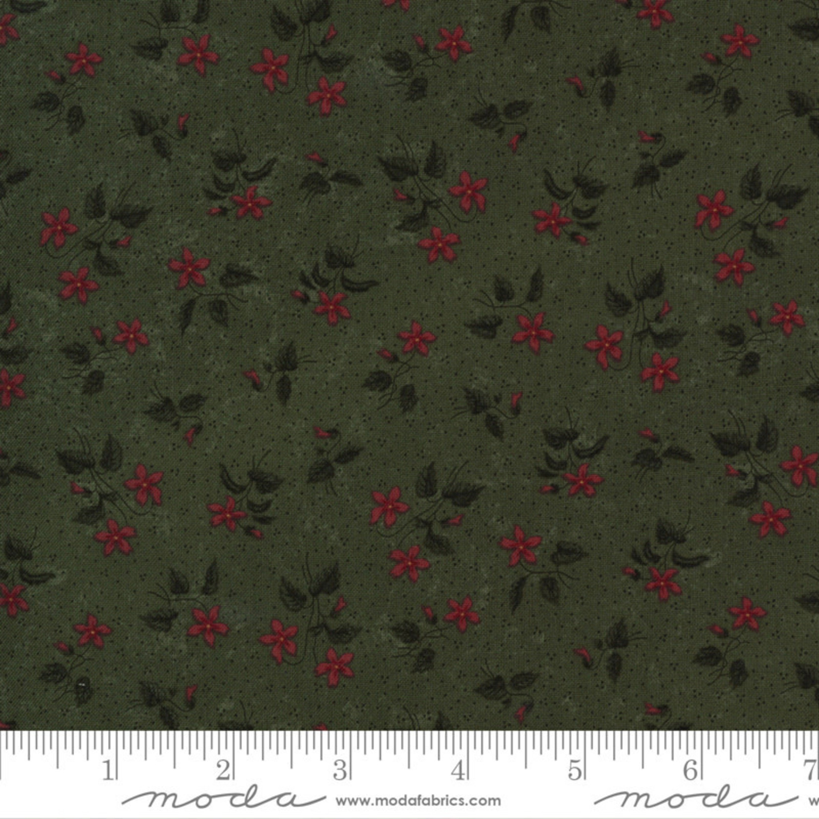 Kansas Troubles Quilters Prairie Dreams, Blossoms Florals, Green 9652 15 $0.20 per cm or $20/m