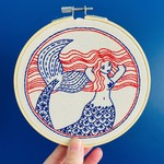 Hook Line and Tinker Mermaid Hair Don't Care Complete Embroidery Kit