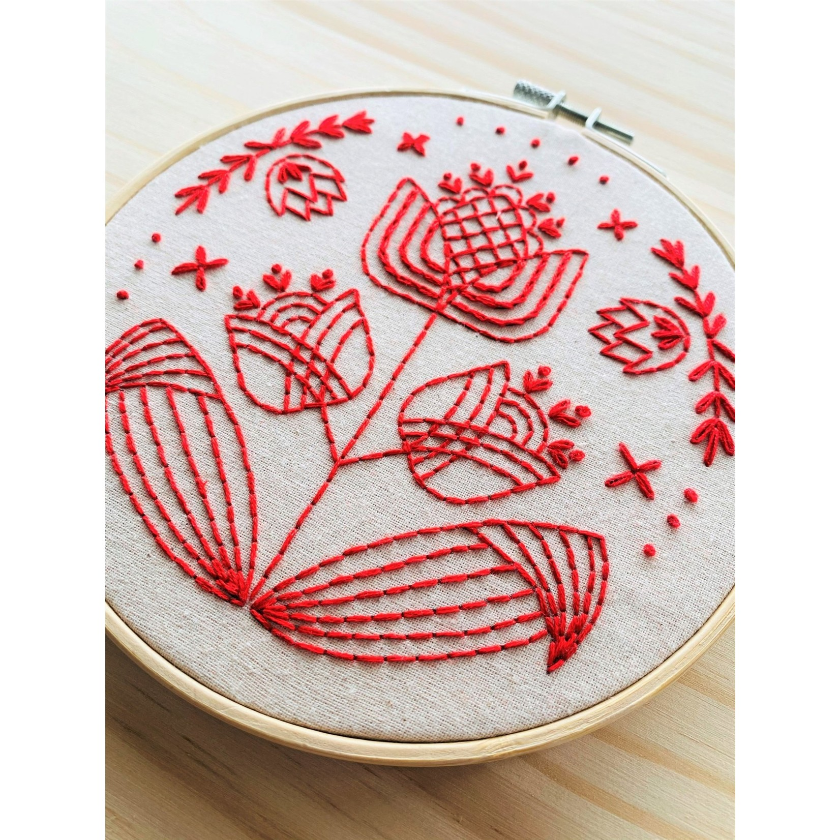 Hook Line and Tinker Tulips in Symmetry Complete Embroidery Kit