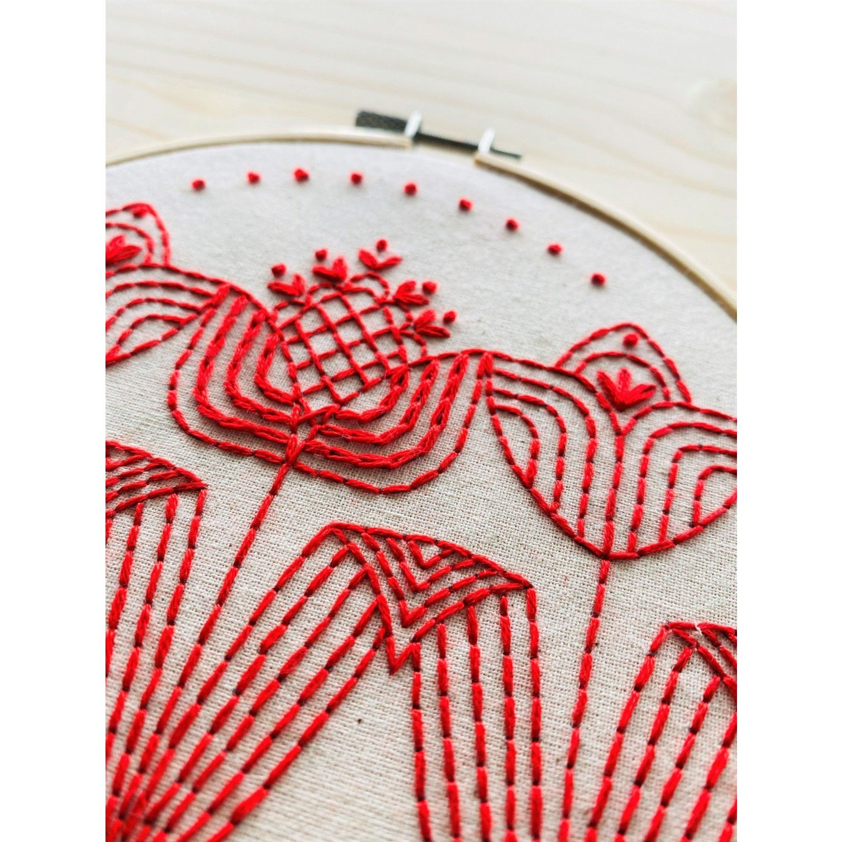 Hook Line and Tinker Tulips in a Row Complete Embroidery Kit