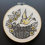 Hook Line and Tinker Goldfinch Complete Embroidery Kit