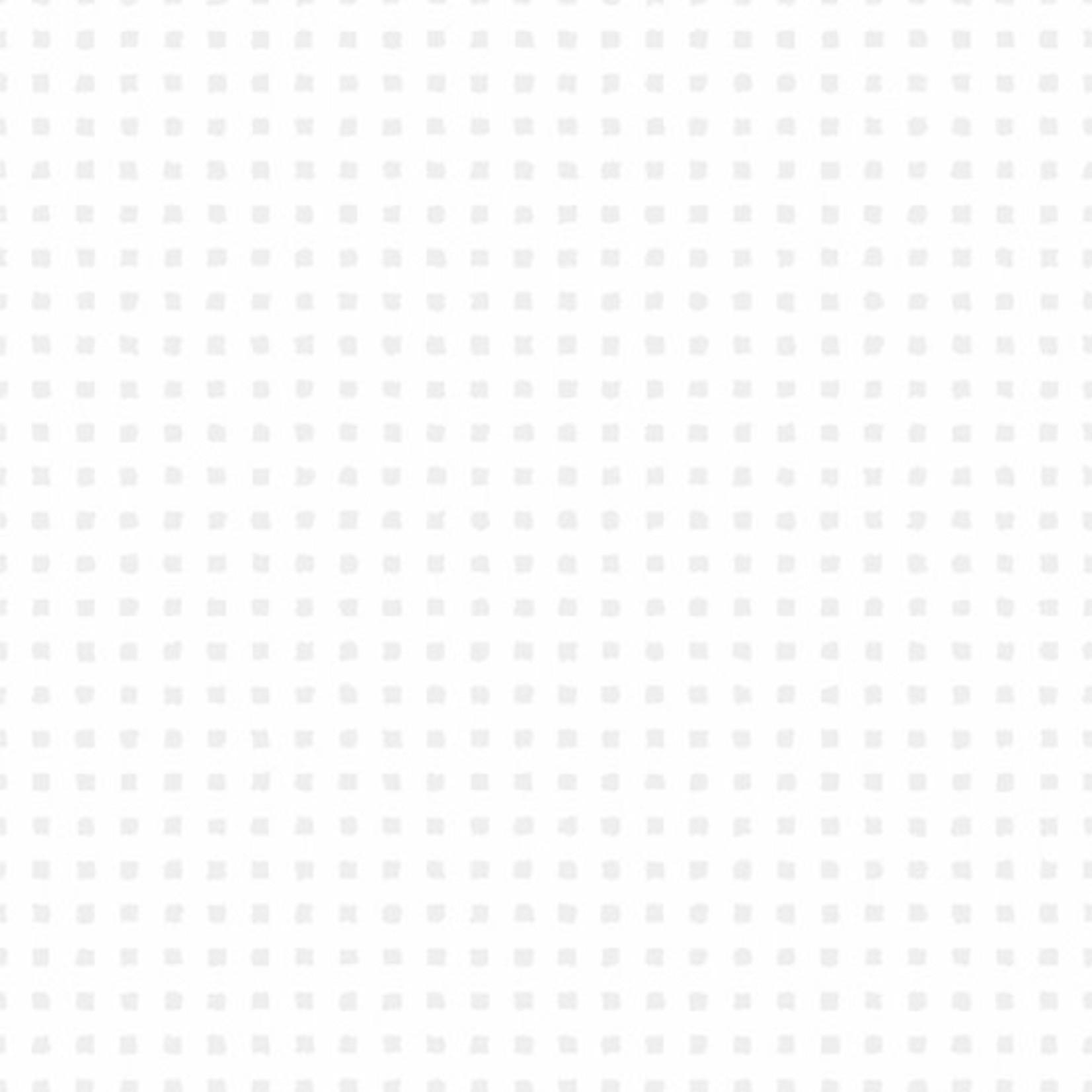 Andover Century Whites, Small Squares CS-9682-WW $0.18 per cm or $18/m