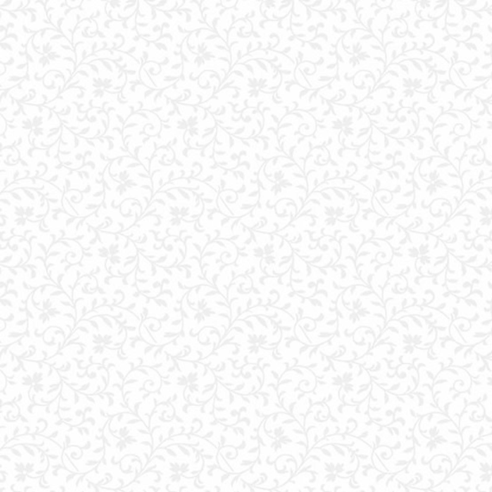 ANDOVER Century Whites, Delicate Vine CS-9685-WW $0.18 per cm or $18/m
