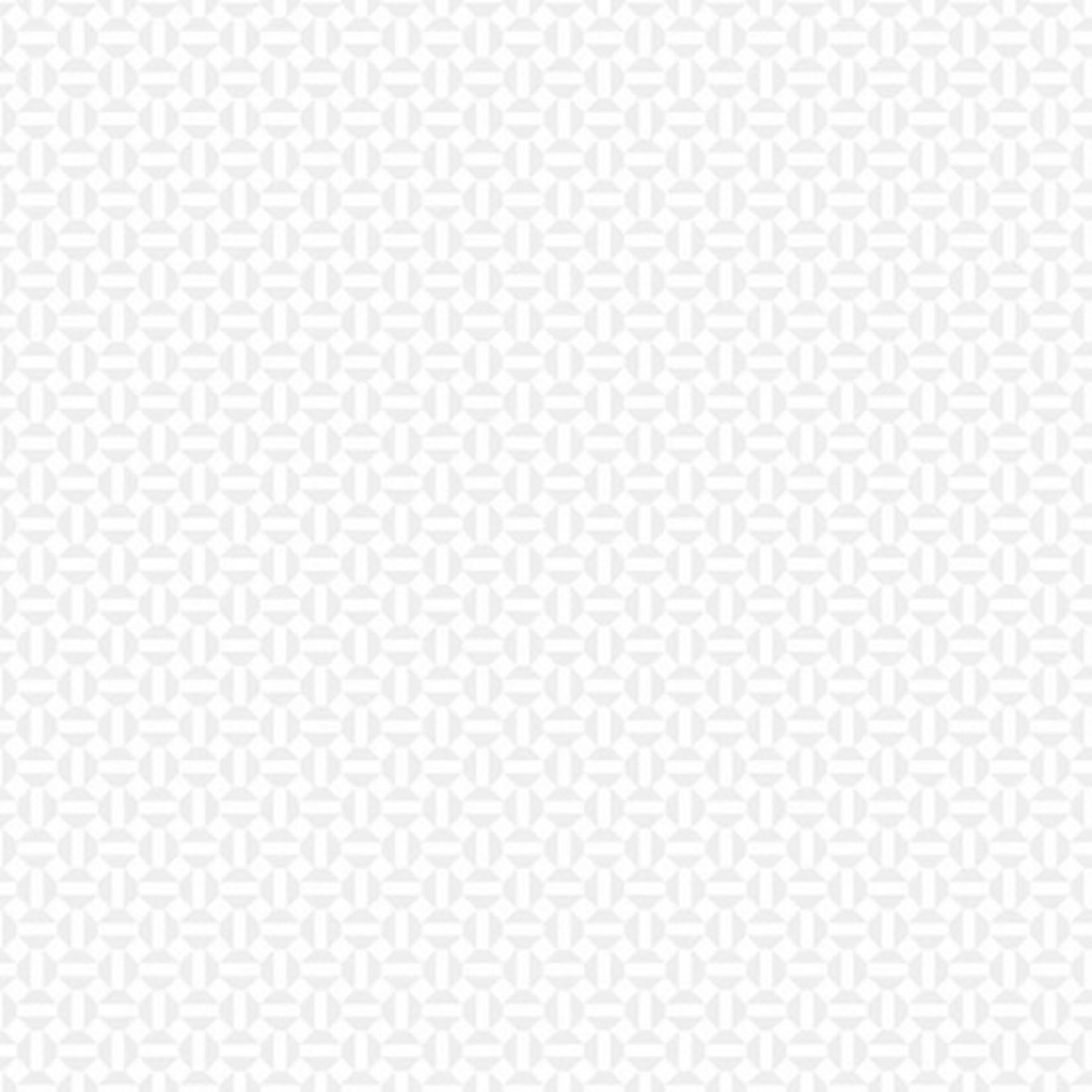 ANDOVER Century Whites, Geomatric Grid CS-9693-WW $0.18 per cm or $18/m