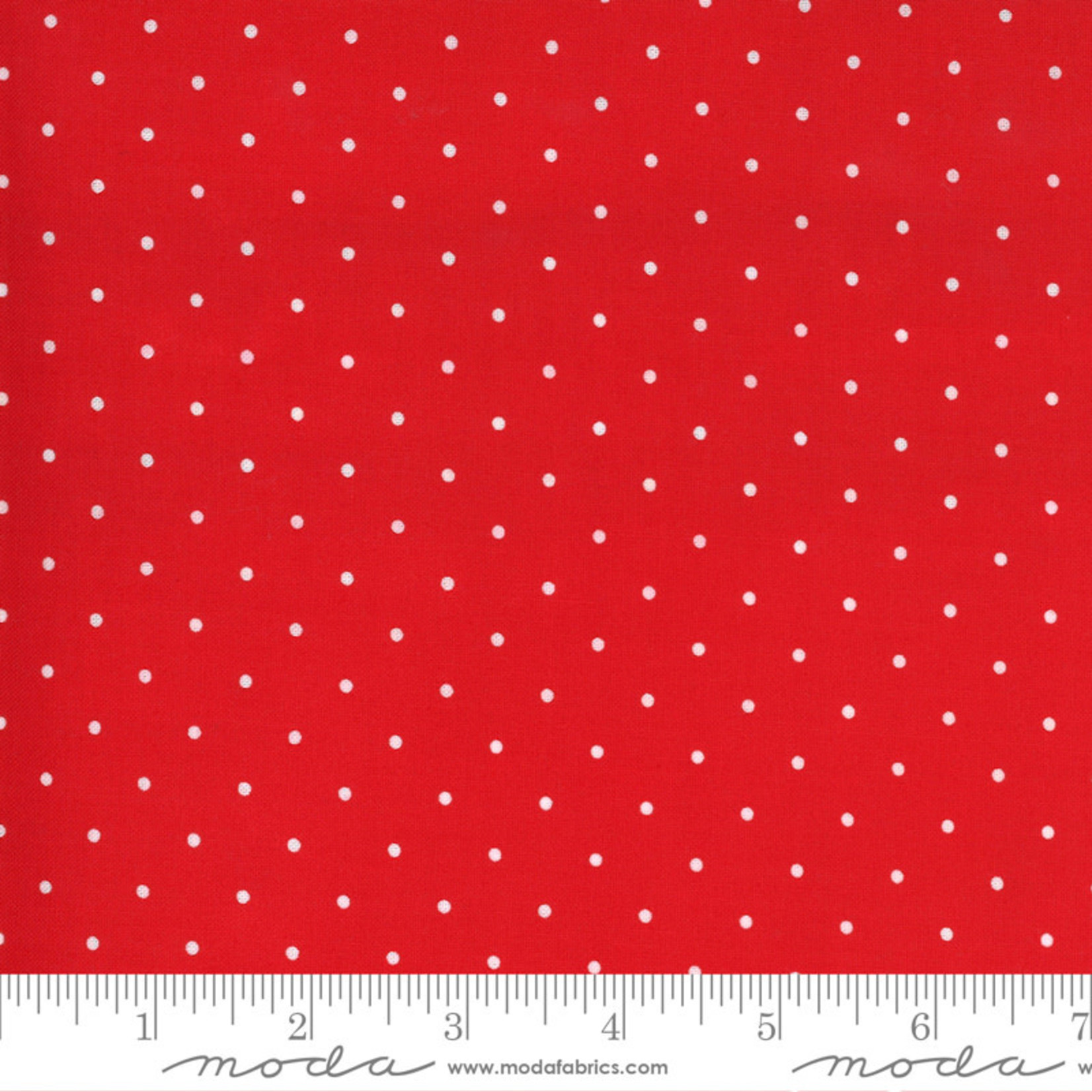 Bonnie & Camille Sunday Stroll, Sweet Dot, Red 55226 12 $0.20 per cm or $20/m