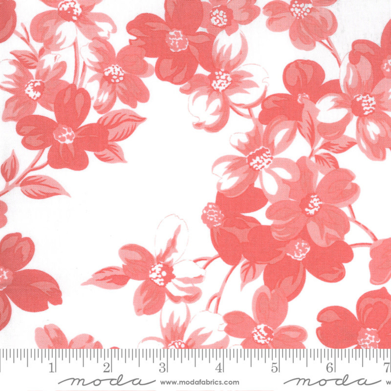 Bonnie & Camille Sunday Stroll, Full Bloom, White Pink 55220 23 $0.20 per cm or $20/m