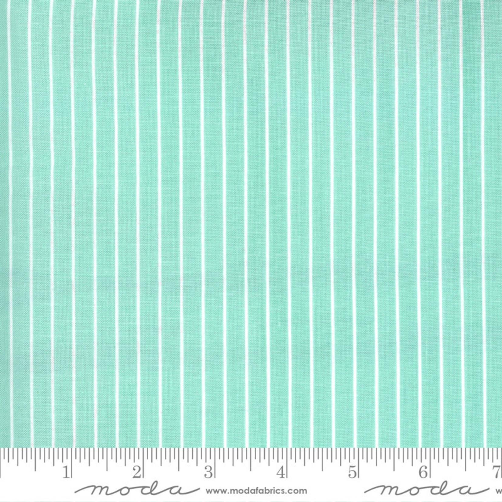 Bonnie & Camille Sunday Stroll, Wide Stripe, Aqua 55228 14 $0.20 per cm or $20/m