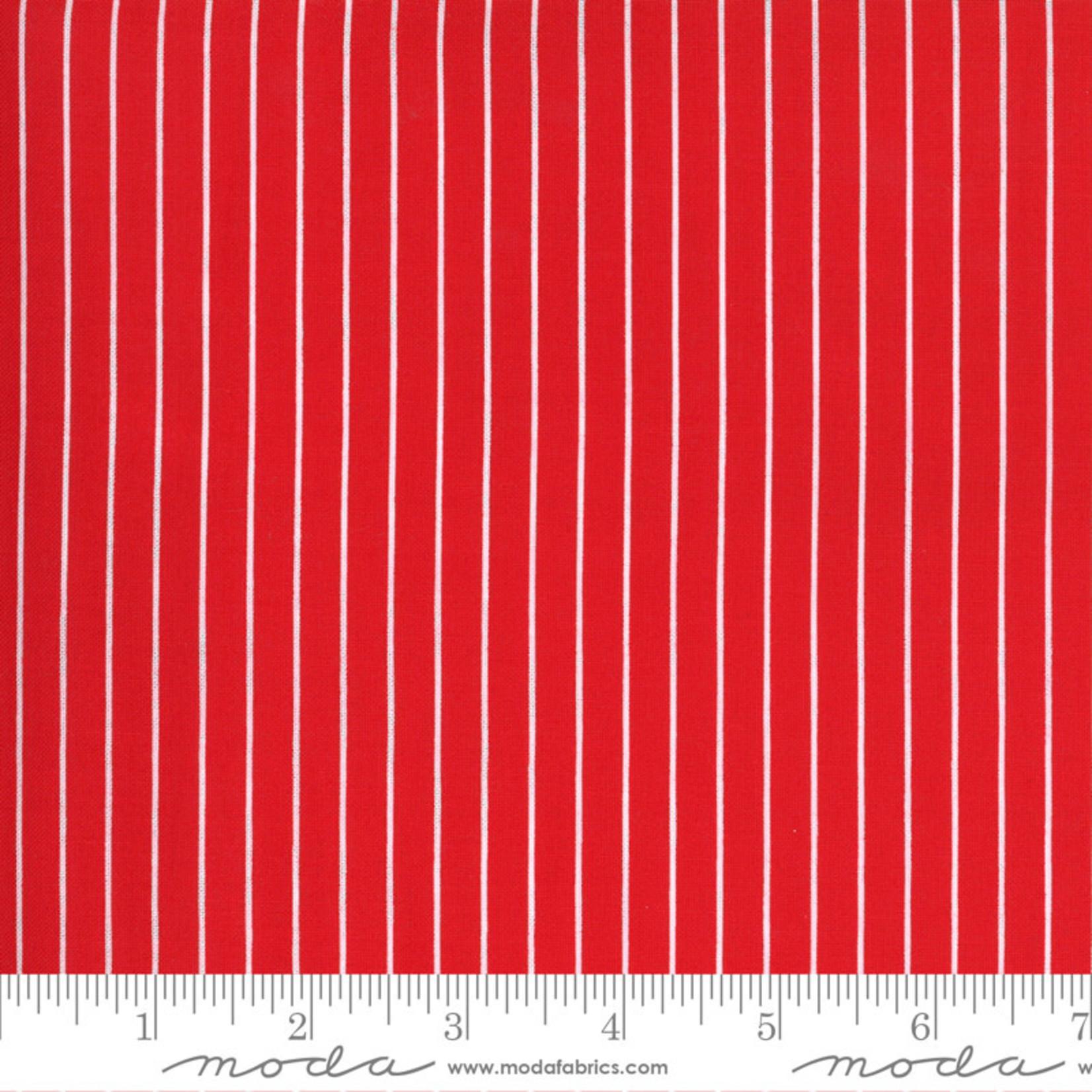 Bonnie & Camille Sunday Stroll, Wide Stripe, Red 55228 12 $0.20 per cm or $20/m