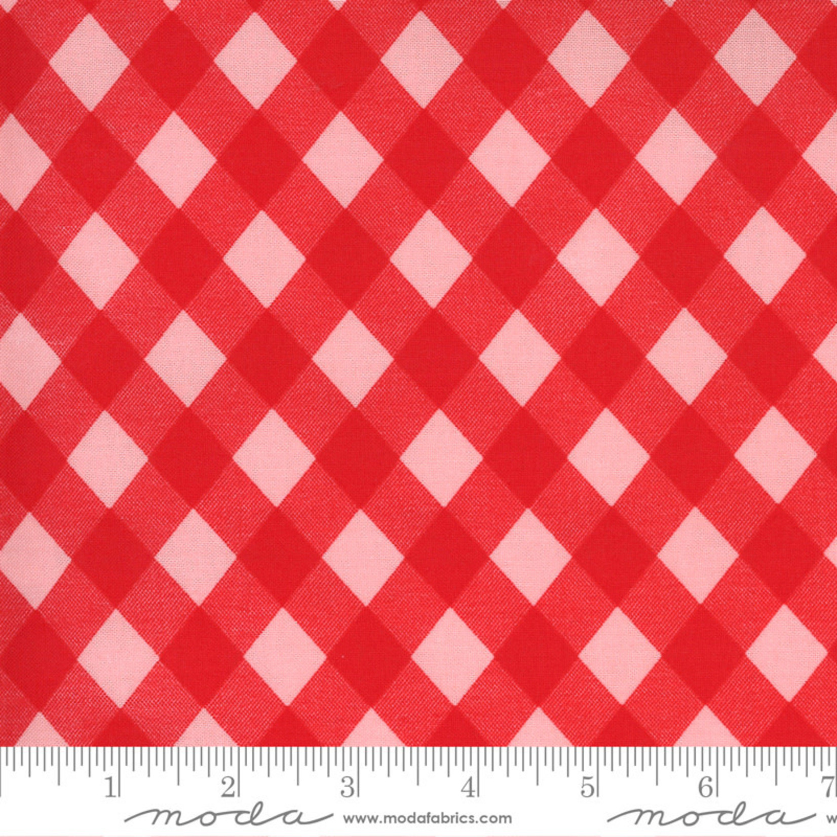 Bonnie & Camille Sunday Stroll, Picnic Gingham, Red Pink 55227 13 $0.20 per cm or $20/m
