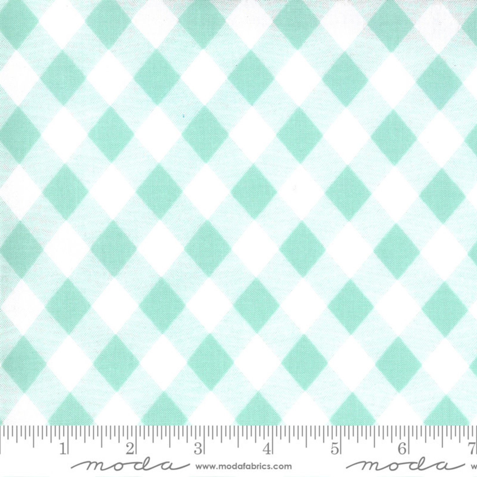 Bonnie & Camille Sunday Stroll, Picnic Gingham, Aqua 55227 14 $0.20 per cm or $20/m