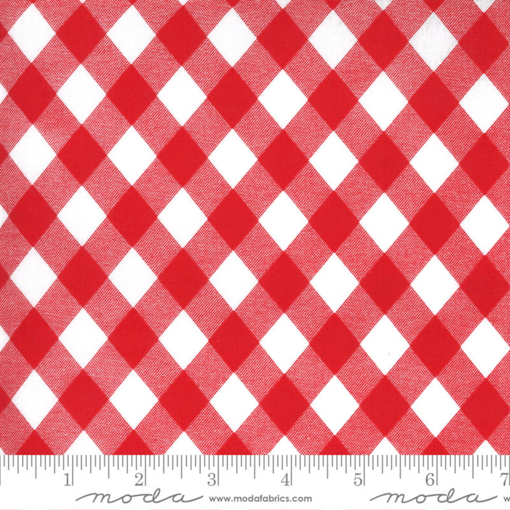 Bonnie & Camille Sunday Stroll, Picnic Gingham, White Red 55227 12 $0.20 per cm or $20/m