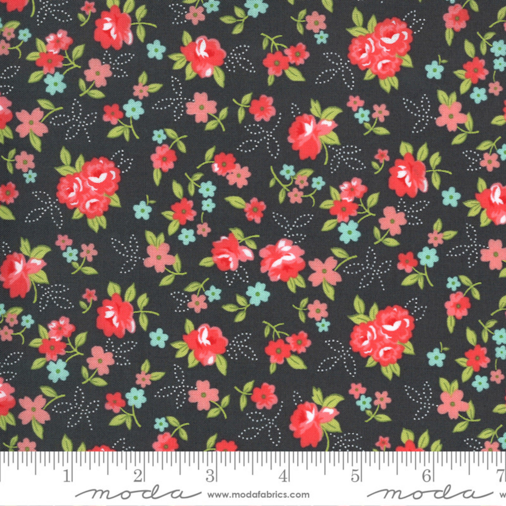 Bonnie & Camille Sunday Stroll, Little Floral, Grey 55222 18 $0.20 per cm or $20/m
