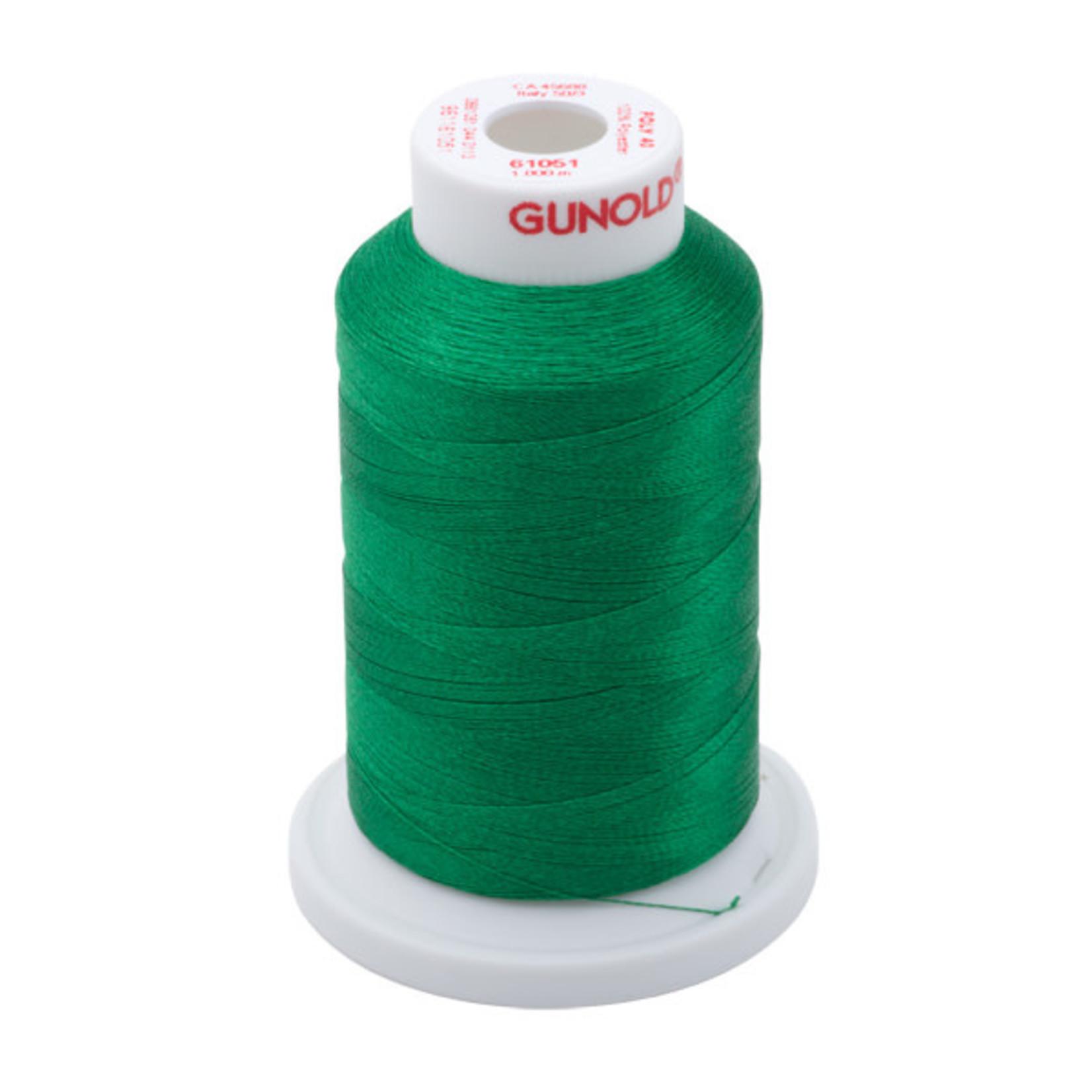 Gunold Poly 40 WT 61051 Christmas Green 1000m