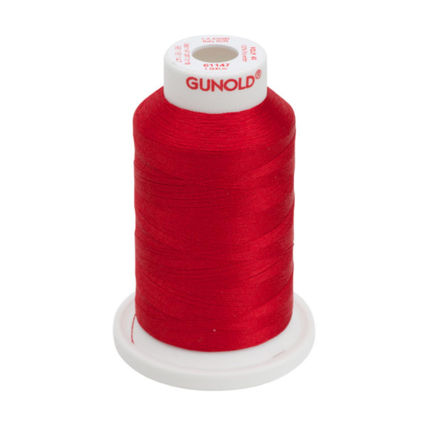 Gunold Poly 40 WT 61147 Xmas Red 1000m