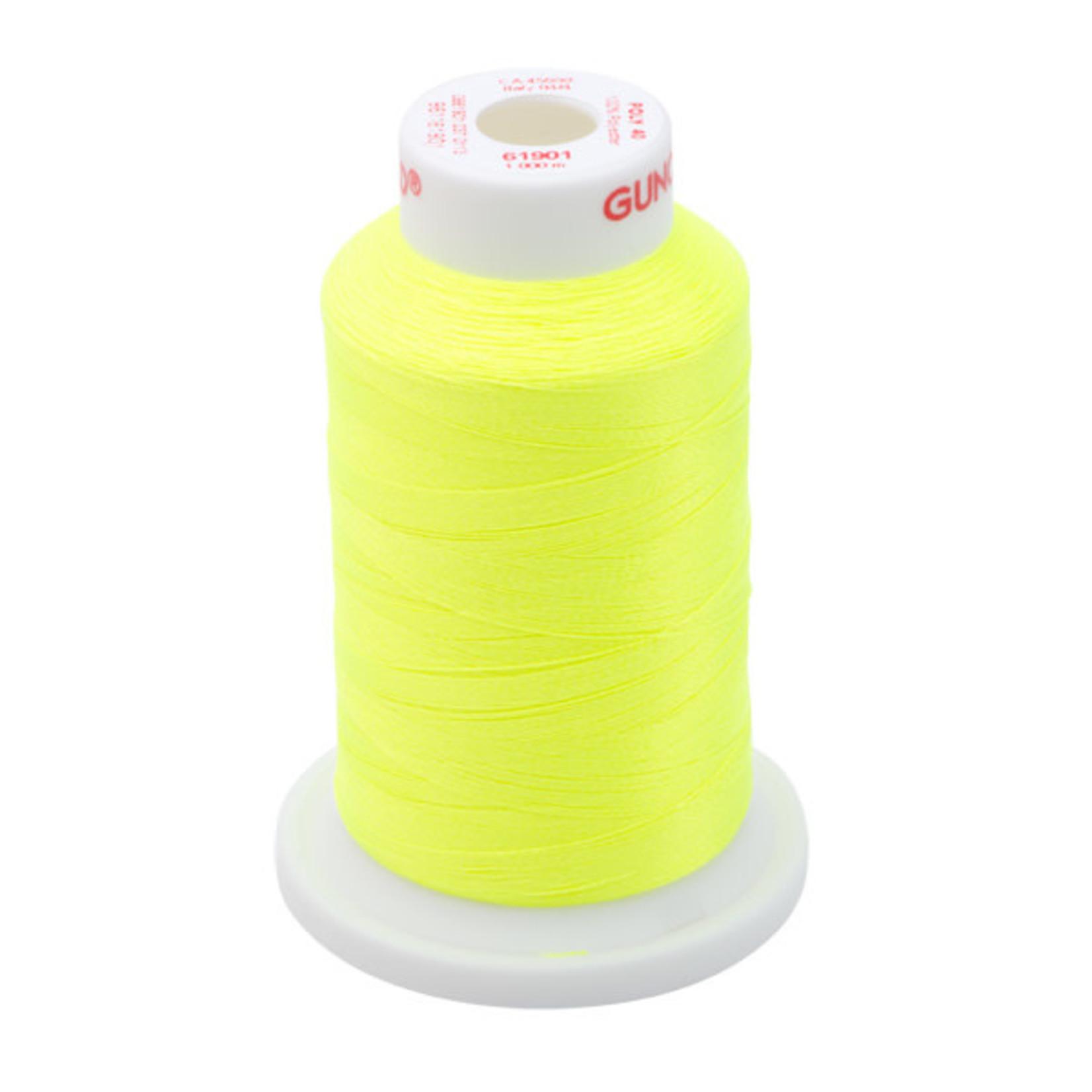 Gunold Poly 40 WT 61901 Neon Yellow 1000m