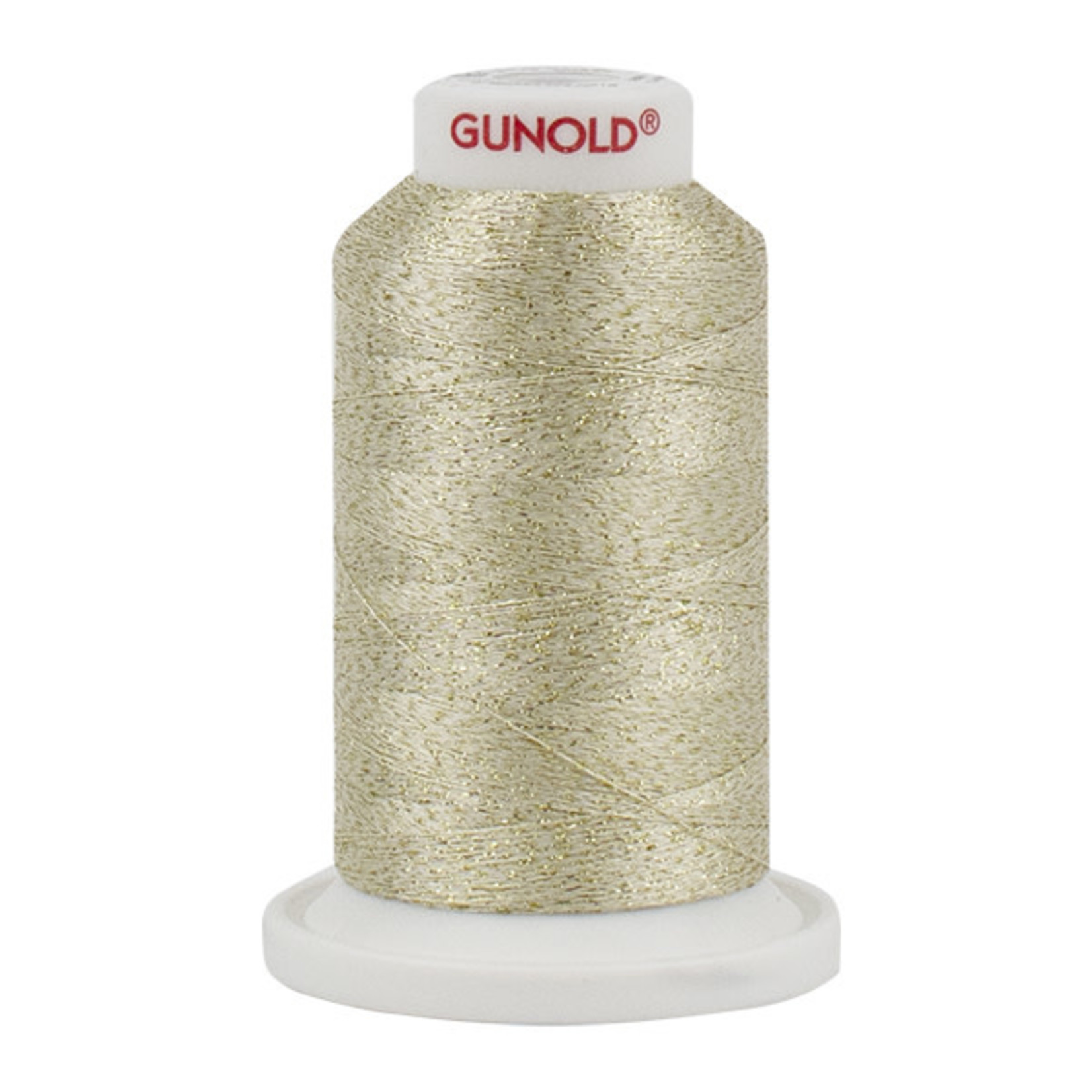 Gunold Poly Sparkle™ (Star™) Mini-King Cone 1,100 YD, 30 Wt, Vanilla with Gold 50526